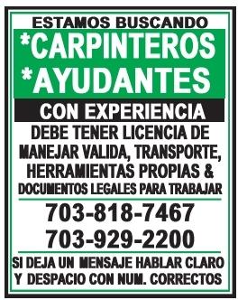 Carpinteros / Ayudantes