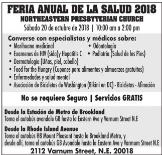 Feria Anual de la Salud 2018