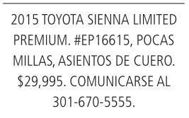 2015 Toyota Sienna Limited Premium