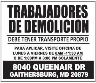 Trabajadores de Demolicion