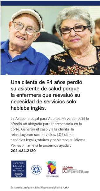 Una Clianta de 94 Años Perdio su Asistente de Salud