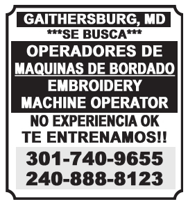 Operador de Maquinas de Bordado