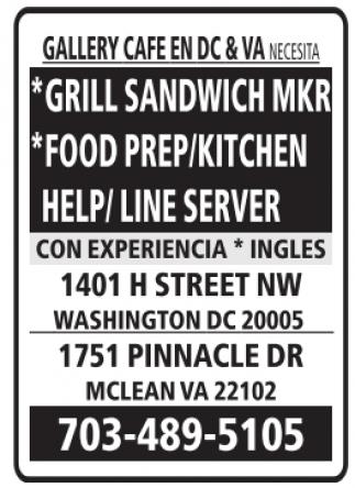 Sandwich Maker, Food Prep/Kitchen, Help/Lines Server