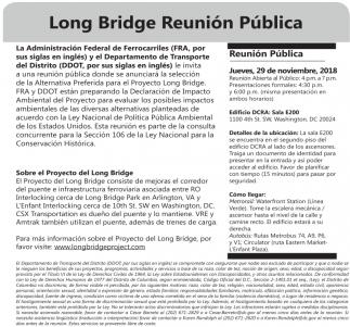 Long Bridge Reunión Pública