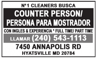 Counter Person / Persona para Mostrador