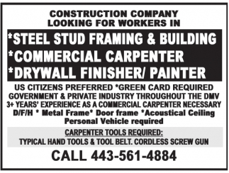 Steel Stud Framing & Building