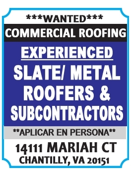 Experienced Slate/Metal Roofers