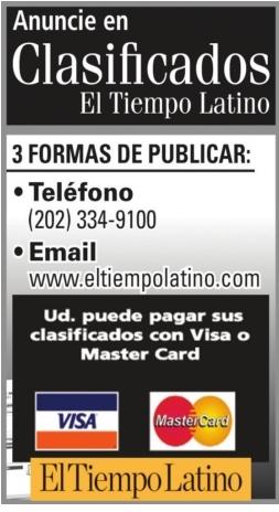 Anuncie Clasificados El Tiempo Latino