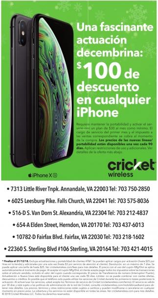 $100 de Descuento en Cualquier iPhone