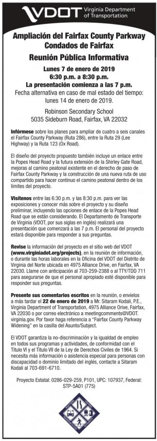 Ampliación del Fairfax County Parkway