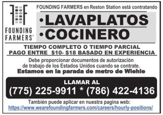 Lavaplatos / Cocinero