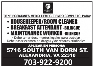 Housekeeper/Room Cleaner
