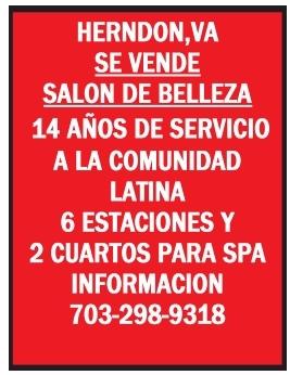 Se vende Salon de Belleza