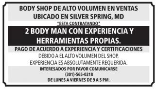 2 Body Man con Experiencia y Herramientas Propias