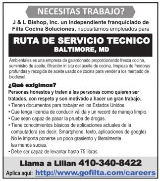 Ruta de Servicio Tecnico