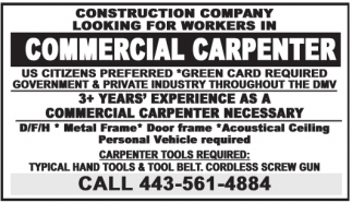 Commercial Carpenter