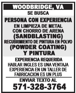 Persona con Experiencia en Limpieza de Metal con Chorro de Arena