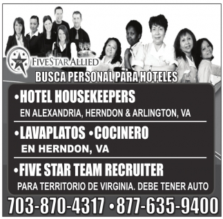 Busca Personal para Hoteles