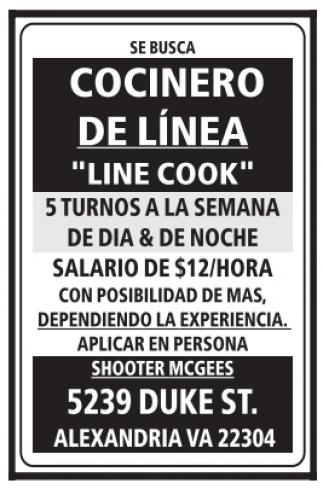 Cocinero de Línea
