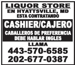 Cashier/Cajero