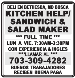 Kitchen Help/ Sandwich & Salad Maker