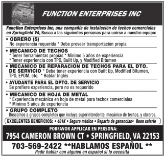 Function Enterprises Inc.