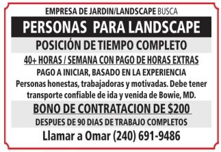 Personas para Landscape