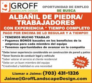 Albañil de Piedra/Trabajadores