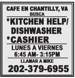 Kitchen Help/Dishwasher and Cashier