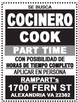 Se Busca Cocinero Part-time