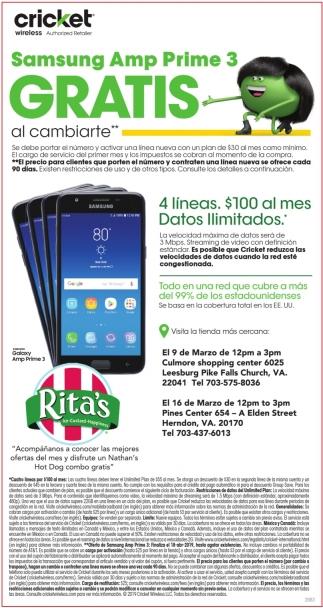 Samsung Amp Prime 3 Gratis, Cricket Wireless, Roanoke, VA