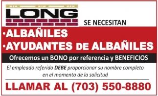 Albañiles, Ayudantes de Albañiles