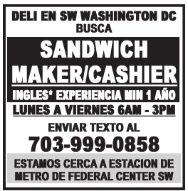 Sandwich Maker/Cashier
