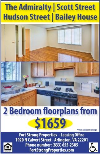 2 Bedroom Floorplans from $1659