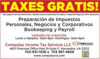 Taxes Gratis!