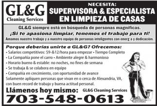 Supervisoras y Especialista en Limpieza de Casas