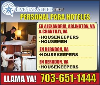 Personal para Hoteles