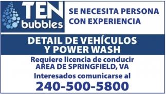 Detail de Vehiculos y Power Wash