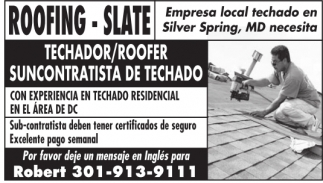 Roofing - Slate