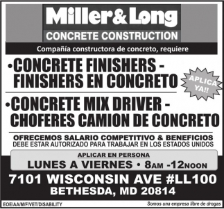 Concrete Finishers