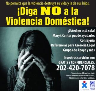 ¡Diga NO a la Violencia Doméstica!