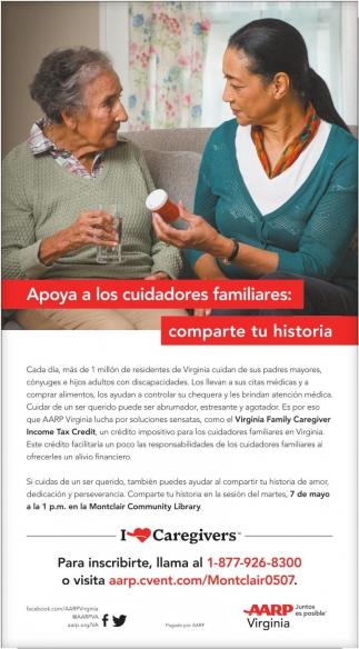 Apoya a los Cuidadores Familiares