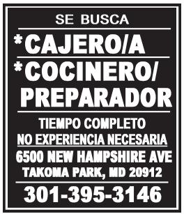 Cajero/a - Conero/Preparador