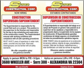 Supervisor de Construcción