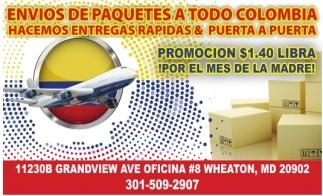 Envios de Paquetes a Todo Colombia