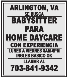 Babysitter para Home Daycare