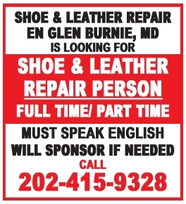 Shoe & Leather Repair Person
