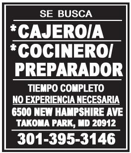 Cajero/a - Cocinero/Preparador