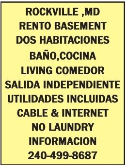 Rento Basement de Dos Habitaciones