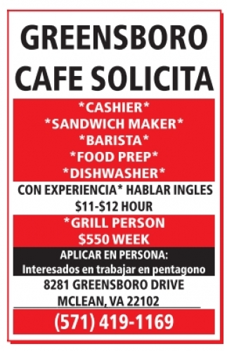 Greensboro Cafe Solicita
